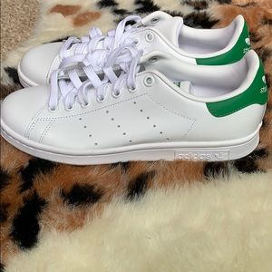 adidas Shoes - Women's green and white adidas Stan smiths